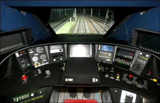 photo vue de l 39 int rieur de la cabine du simulateur de pilotage de tgv le 21 d cembre 2006. Black Bedroom Furniture Sets. Home Design Ideas