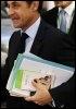 Nicolas Sarkozy arrive pour la 2e journée du sommet européen de Bruxelles, le 20 mars 2009 (© AFP - John Thys)