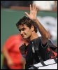 Le Suisse Roger Federer quittant le tournoi le 21 mars 2009 (© AFP - Robyn Beck)