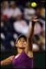 La Serbe Ana Ivanovic au service, le 20 mars 2009 lors du tournoi d'Indian Wells (Etats-Unis) (© AFP/Getty Images - Matthew Stockman)