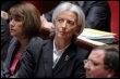 La ministre de l'Economie et des Finances Christine Lagarde, le 18 mars 2009 à l'Assemblée nationale (© AFP - Pierre Verdy)