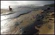 Marée noire sur une plage de cap Finisterre en Espagne après le naufrage du pétrolier Prestige le 21 novembre 2009 (© AFP/Archives - Christophe Simon)