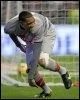 Guillaume Hoarau du PSG heureux après avoir marqué contre Braga le 19 mars 2009 (© AFP - Miguel Riopa)