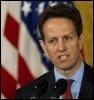 Le secrétaire américain au Trésor Tim Geithner, le 16 mars 2009 à la Maison-Blanche à Washington (© AFP/Archives - Paul J. Richards)