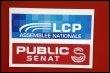 Photo des logos des chaînes de télévision Public Sénat et La Chaîne Parlementaire, prise le 9 mars 2005 à Paris (© AFP/Archives - Stephane de Sakutin)