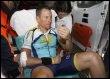 Lance Armstrong à son arrivée à l'hôpital de Valladolid, en Espagne, le 23 mars 2009 (© AFP - Jaime Reina)