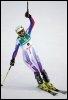 La Française Sandrine Aubert, victorieuse du slalom d'Are en Suède, le 13 mars 2009 (© AFP/Archives - Fabrice Coffrini)