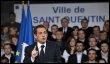 Nicolas Sarkozy prononce un discours, le 24 mars 2009 à Saint-Quentin (© AFP - Gérard Cerles)
