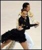 Les Russes Okasana Domnina et Maxim Shabalin, lors de l'épreuve de danse imposée des Mondiaux de patinage, le 24 mars 2009 à Los Angeles (© AFP - Jewel Samad)