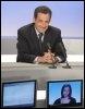 Nicolas Sarkozy, alors ministre de l'Intérieur, sur le plateau de France 3, le  7 décembre 2005 à Paris (© AFP/Archives - Jack Guez)
