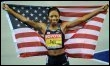 L'Américaine Allyson Felix remporte le 200 m à Berlin, le 21 août 2009 (© AFP/DDP - Thomas Lohnes)