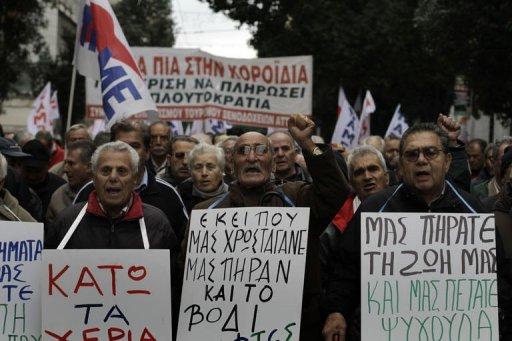 Manifestation contre l'austérité à Athènes le 15 décembre 2010 (©  - Kostas Tsironis)