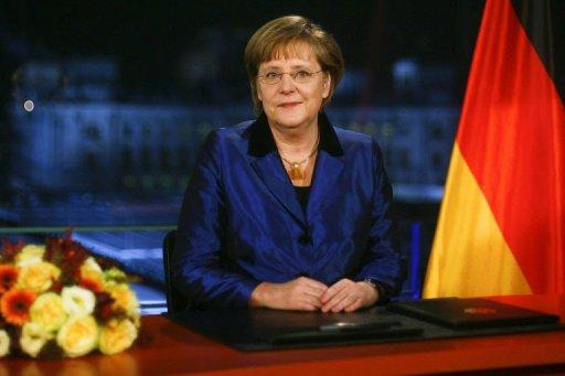 Voeux d'Angela Merkel le 30 décembre 2010 à Berlin (©  - Markus Schreiber)