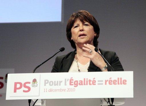 Martine Aubry, le 11 décembre 2010 à Paris (©  - Jacques Demarthon)