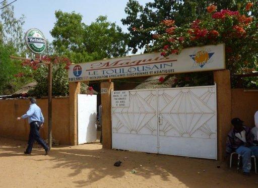 """Le restaurant """"Le Toulousain"""" à Niamey, où deux Français ont été enlevés le 7 janvier 2011 (©  - Boureima Hama)"""