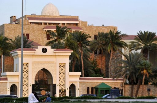 La demeure de Jeddah, en Arabie Saoudite, où le président Ben Ali, en fuite, s'est installé, le 15 janvier 2011 (©  - Amer Hilabi)