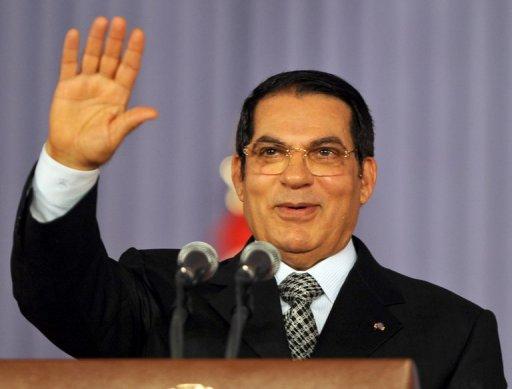 Le président tunisien Ben Ali, le 30 juillet 2008 à Tunis (©  - Fethi Belaid)