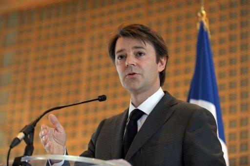 François Baroin le 17 janvier 2011 lors de ses voeux à la presse (©  - Eric Piermont)