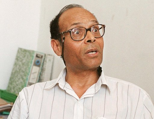 Moncef Marzouki le 7 juillet 2001 à Tunis (©  - Fethi Belaid)