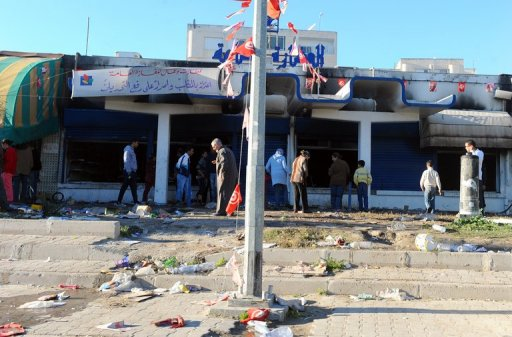 Un supermarché pillé à Tunis, le 15 janvier 2011 (©  - Fethi Belaid)