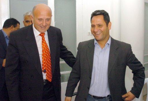 Le leader d'opposition Ahmed Néji Chebbi (à gauche) le 25 mars 2008 à Tunis. (©  - Fethi Belaid)