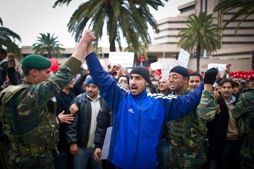Manifestation à Tunis le 20 janvier 2011 (©  - Martin Bureau)