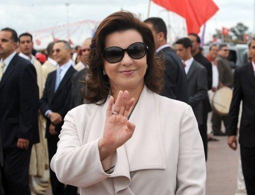 Leila Trabelsi, seconde épouse du président tunisien en fuite Zine El Abidine Ben Ali le 11 octobre 2009 à Tunis (©  - Fethi Belaid)