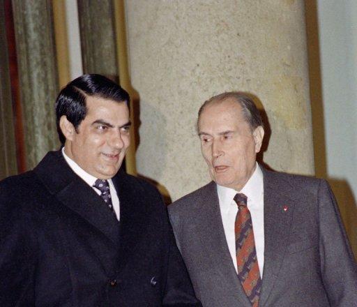François Mitterrand et Ben Ali, le 19 décembre 1991 à l'Elysée, à Paris (©  - Gérard Fouet)