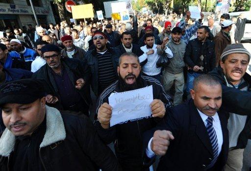 Manifestation à Tunis, le 21 janvier 2011 (©  - Fethi Belaid)