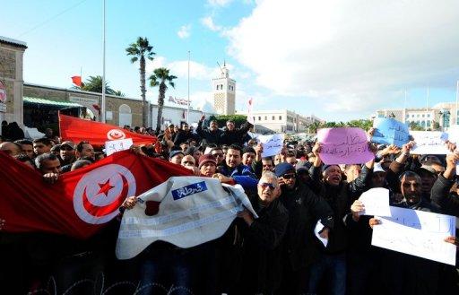 Manifestation à Tunis, le 22 janvier 2011 (©  - Fethi Belaid)