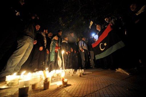 Des Syriens vivant en Egypte manifestent contre le régime de Damas au Caire le 25 septembre 2011 (©  - Filippo Monteforte)
