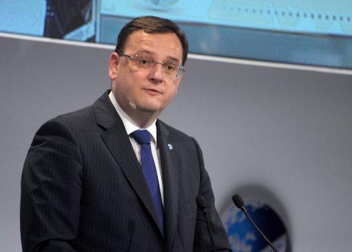 Le Premier ministre tchèque Petr Necas, le 6 janvier 2012 à Paris (©  - Eric Piermont)
