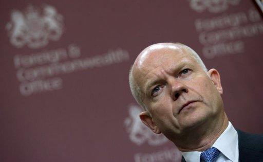 Le ministre britannique des Affaires étrangères William Hague à Londres le 24 janvier 2012 (©  - Adrian Dennis)