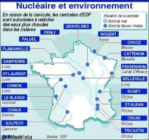 Imprimer l'article: La canicule, un aléa pris en compte pour les centrales nucléaires